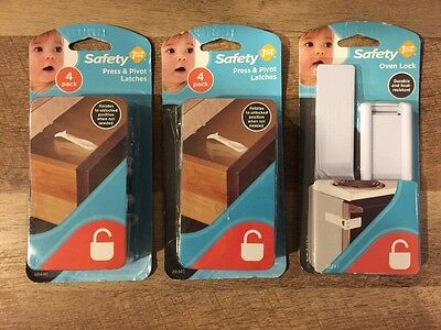 Safety 1st Child & Baby Proof Press and Pivot + Heat Resistant Oven Lock Latch