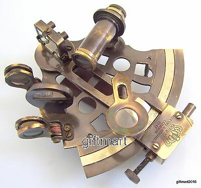 Nautical Sextant Antique Brass Vintage United Collectible Decor