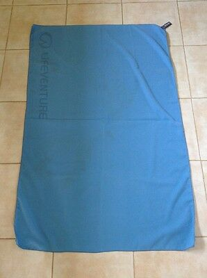Large Blue Polyester Travel Lifeventure Towel Blanket * Used Some Stains