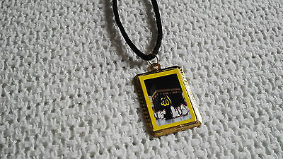 "Muslim Pendant with word ""ALLAH"" and ""Khana Kaba"" Photos Necklace Islamic Amulet"