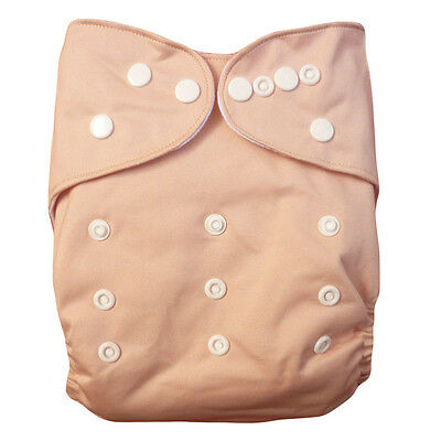 2pcs Pink Adjustable Reusable Baby Washable Cloth Diaper Nappies Covers 04US1