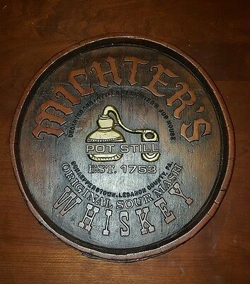 Michters Whiskey Barrel Sign Advertising Schaefferstown Lebanon Co Pa