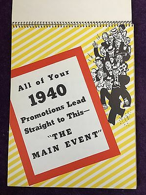 Rare Vintage 1940 Goodyear Tires All Weather G3 Advertising Program Booklet