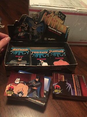 Lot of 50 Batman and Robin Animated Series - Pop Up Cards W Display & 135 Cards