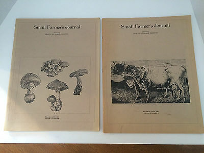 Small Farmers Journal - Vintage 1981 -  Lot Of 2