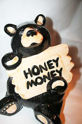 ADORABLE LARGE BAREFOOTS HONEY  MONEY BEAR BANK by JEFF FLEMING