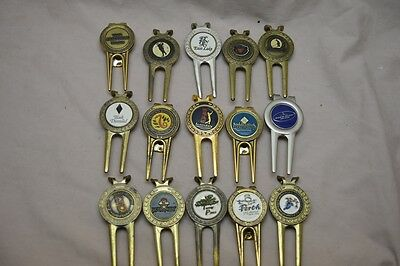 Golf Club Divot Repair Tool Marker Collection Lot of 15 US Open + Others