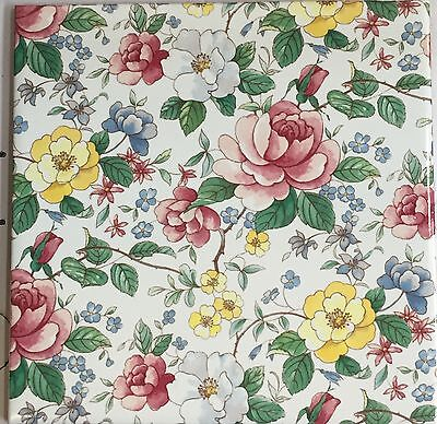 2 Chatsworth flowers on  wall tiles, mosaic tiles, kitchen tiles, chinz tiles