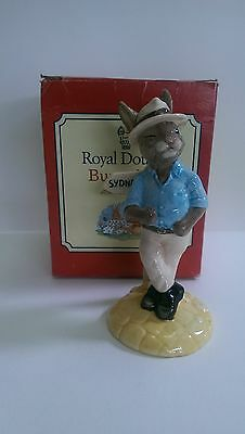 Royal Doulton Bunnykins DB195,Sydney Bunnykins.Mint Condition.
