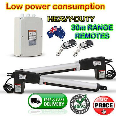 Automatic 2 Arm Swing Gate Opener Kit 500kg capacity w/ 2 Remote Controls