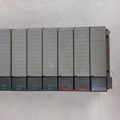 Allen Bradley SLC 500 1746-A7 Chasis W/ 5/02 Processor And 6 Cards