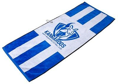 Official Afl Jacquard Golf Towel - North Melbourne - Brand New - Value Plus!!