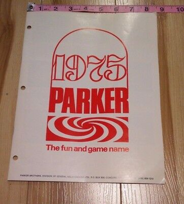 Parker Brothers 1975 Games Toy Fair Trade Show Publication Catalog Advertising