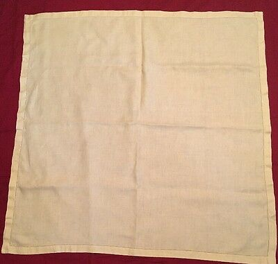 Vintage Yellow Linen Table Cloth Simple But Classic