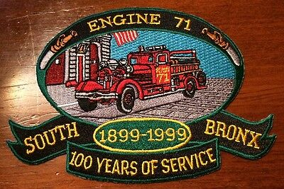 FDNY Engine 71 South Bronx - 100 Years of Service Fire Patch 1899-1999 New York