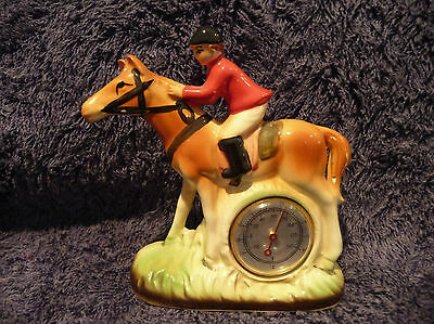 Vintage Thermometer - Jockey on horse (small)