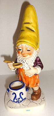 Vintage GOEBEL CO-BOY GNOME FIGURINE  Sam The Gourmet W Germany WELL 505 1970