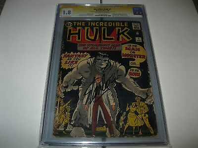 Incredible Hulk #1 Cgc 1.8 Ss Stan Lee 1St Hulk Gen Ross Betty Ross  Rare Signed