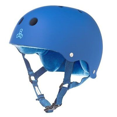 Triple Eight Helmet with Sweat Saver Liner, Royal Blue Rubbe