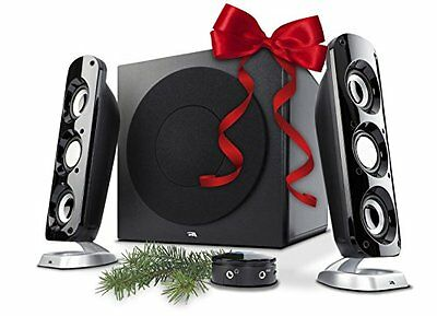 Cyber Acoustics CA-3908 3 Piece Flat Panel Design Subwoofer and Satellite S