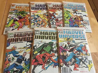 MARVEL UNIVERSE Deluxe Edition + DC WHO'S WHO COMIC COLLECTION LOT