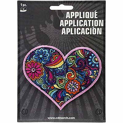 Application DSX Love Paisley Heart Patch