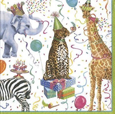 Entertaining with Caspari Party Animals Cocktail Napkin, Pack of 20