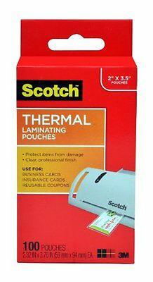 Scotch Thermal Laminating Pouches, 2.32 x 3.70-Inches, Busin