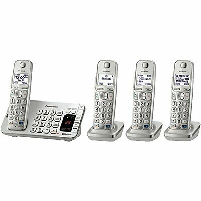 Panasonic Link2Cell Bluetooth  KX-TGE274S 4 Handsets Corldess Phone with La
