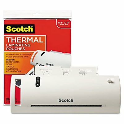 "Scotch TL902VP Thermal Laminator Value Pack, 9"" W, With 20 L"