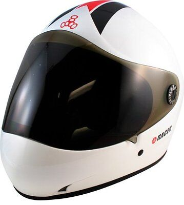 Triple Eight 1422 T8 Racer 2.0 Helmet, White Gloss, Large/X-Large