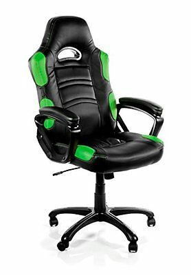 Arozzi Enzo Series Gaming Racing Style Swivel Chair, Black/G