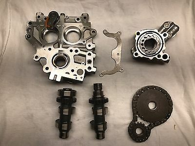 Harley Twin Cam 88 Stock Cam Plate Camshafts Assembly w/ Oil Pump