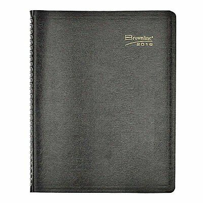 Brownline 2016 Weekly Planner, Twin-Wire, Black, 11 X 8.5 Inches (CB950.BLK