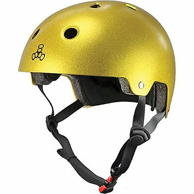 Triple Eight Certified Helmet, Gold Flake, Large/X-Large