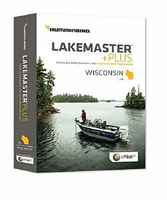 Humminbird Lakemaster Plus Wisconsin Contour Digital GPS Map