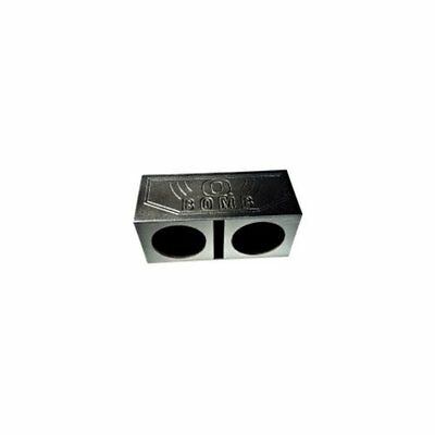 Q Power QBOMB12V Dual 12-Inch Vented Speaker Box with Durable Bed Liner Spr