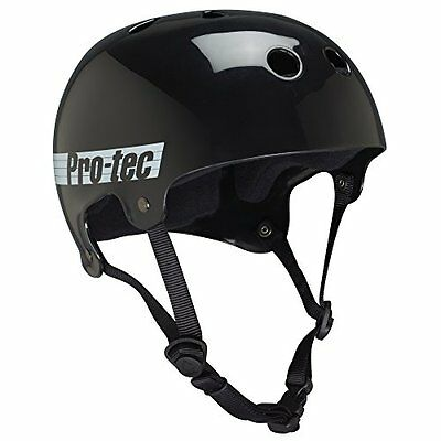 PROTEC Original Bucky Skate Helmet, Gloss Black Retro, X-Large