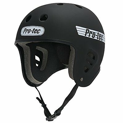 PROTEC Original Full Cut Helmet, Satin Black, X-Large