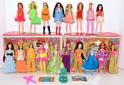 Vintage Topper Dawn & Her Friends Doll Lot 18 Dolls 2 Cases Boots Shoes! Lot #8