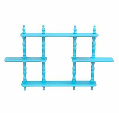 Frenchi Home Furnishing Kid's 3-Tier Wall Shelves, Blue