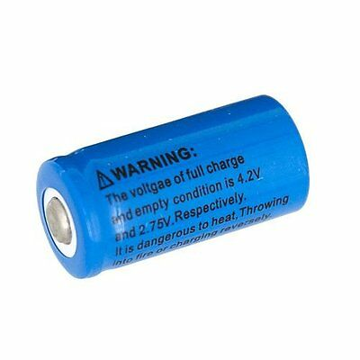 Fin-Finder CR123A 1500MAH Battery, Silver