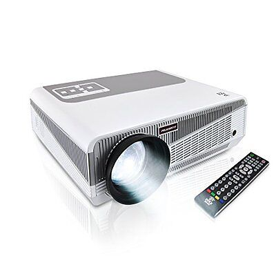 Pyle PRJAND615 HD Hi-Res Smart Projector, Built-In Dual Core Android CPU, H