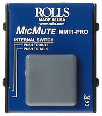 rolls MM11PRO Switchable Microphone Mute/Talk Professional Microphone Switc