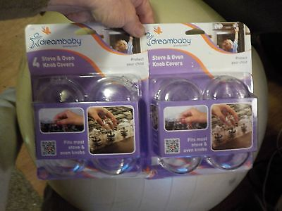 Lot of 8 NEW DREAM BABY STOVE AND OVEN KNOB COVERS Two New 4 PACKS