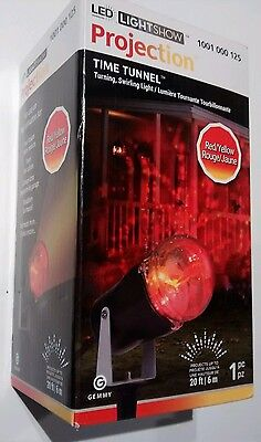 Gemmy time tunnel Red and Yellow LED Light Show Projection Halloween projector
