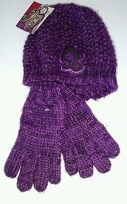 Ever after high  beanie and gloves set 7-10x new with tags