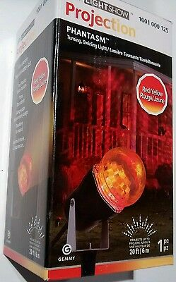 Gemmy Phantasm red & yellow LED Light Show Projection Halloween projector