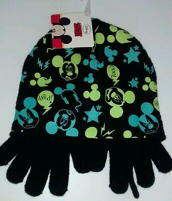 Disney's Mickey Mouse beanie and gloves 4-6x new with tags