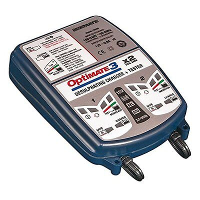 OptiMate 3 TM-451, 2-BANK x 7-step 12V 0.8A Battery saving charger-tester-m